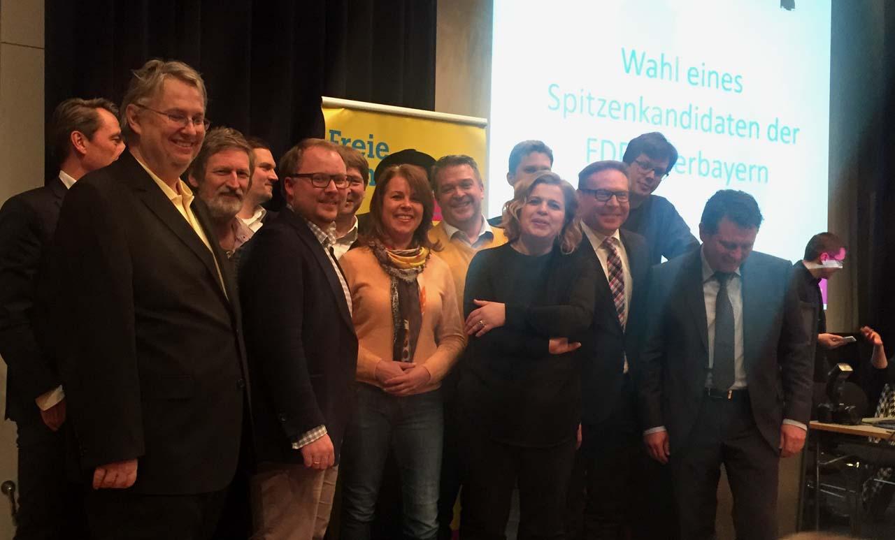 FDP-Bundestagskandidaten auf der Delegiertenkonferenz am 8.2.2017 in Germering. (Foto: Christoph Reisbeck)