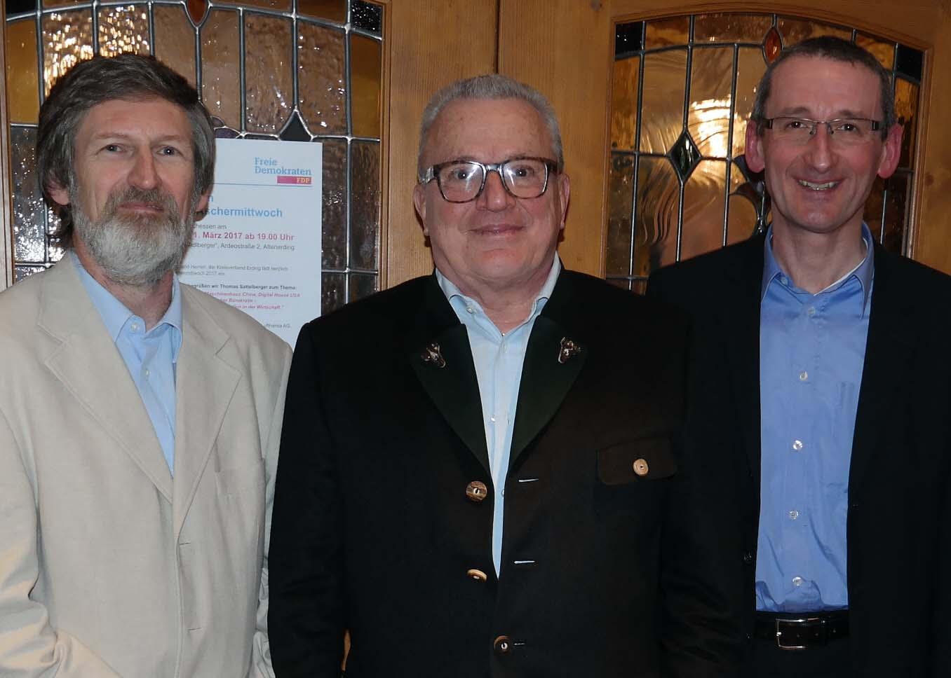 Peter Pernsteiner, Thomas Sattelberger und Thomas Schuster